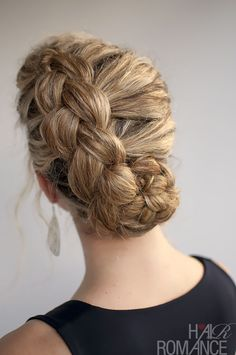 For our curly-haired friends: A Dutch braid style created for you by Hair Romance. Click on the photo for more.