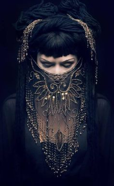 ~ oriental goddess ~ At first glance it looks like her eyes are open and totally white which adds to the creep factor.