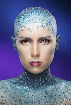 Otherworldly Body Paint - ✯ www.pinterest.com/wholoves/Body-Art ✯ #BodyArt