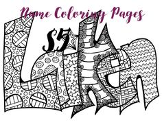 any name colorable purchase this item and include a note with the name or word youd love easy peasy name coloring pagesdoodles - Name Coloring Pages