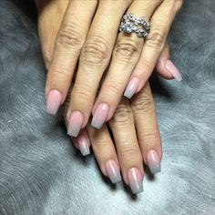 SNS Ombre Nails (pink and grey) More