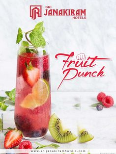 Delicious and thirst-quenching sparkling #Fruit_punch, made with high-quality, #fresh fruits. Enjoy this refreshing drink at Srijanakiram Hotels  #srijanakiram #evening #special #fruit #punch