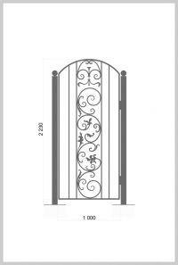 #Калитка /  #Wrought_Iron_Doors #gate  Артикул:k_05 Ширина, мм:1000 Высота, мм:2230 Покрытие:Пентал Амор Цена: 13 250 руб./шт. Подробное описание на сайте. #metalmade