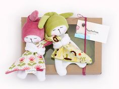 Sleepy Bunnies Baby Set: Two Sleepy Bunnies / Bunny Plushies