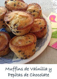 Muffins de Vainilla y Pepitas de Chocolate