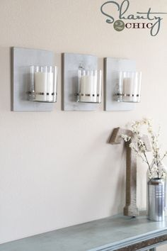 Dollar Store DIY • Tutorials and ideas, including this industrial chic sconce by 'Shanty 2 Chic'!