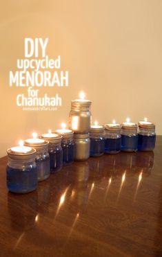 Anyone can make this DIY Upcycled Chanukah Menorah!