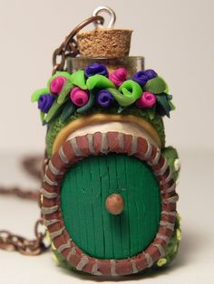 Elf Hut Door Necklace | BottledUpCreations, Bottle Necklace