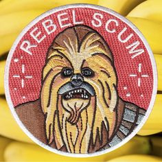 "Image of Chewbacca iron-on patch <br></br><font color=""#BDBDBD"">parche Rebel Scum</font>"