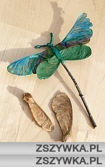 Inexpensive way to make decorative dragonflies for a party