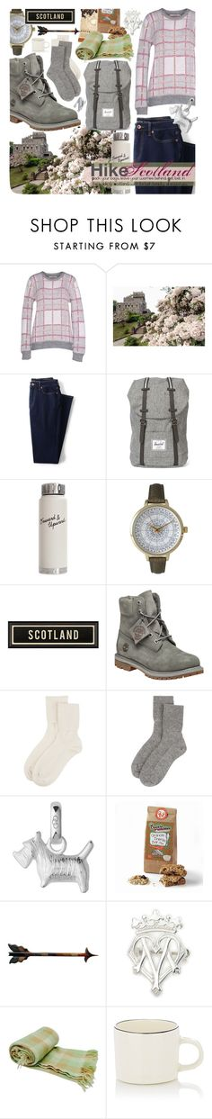 """Find me where the wild things are..."" by bleucabbage ❤ liked on Polyvore featuring TEQUILA SOLO, Lands' End, Herschel, Dot & Bo, Olivia Pratt, Timberland, Johnstons of Elgin, Links of London, Pendleton and Nicholas Newcomb"