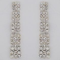 Discover the glamour of Margaret Rowe Wedding Jewelry & Bridal Earrings.  Red carpet style deco crystal wedding earrings, vintage earrings for black tie affairs.  Find it at Perfect Details.
