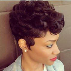 with our latest hair fashion Human Hair Wig! Human Hair Wig with a fluffy layered cut and curly layered bangs WOW! Natural color, very smooth and very sharp My Hairstyle, Wig Hairstyles, Black Hairstyles, Teenage Hairstyles, Hairstyles 2016, Trendy Hairstyles, Wedding Hairstyles, Wavy Haircuts, African Hairstyles