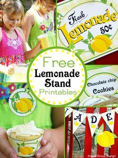Free Lemonade Stand Printables by Press Print Party
