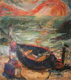 Order prints of Avonelle Kelsey's Van Gigh inspired painting The Sea of Cortez