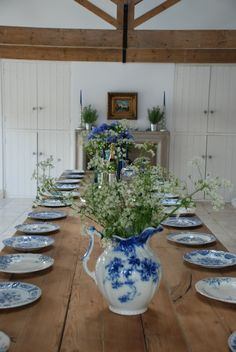 Beautiful blue and white vintage china