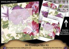 Petunias Large Blooms 8in Envelope Mini Kit on Craftsuprint - Add To Basket!