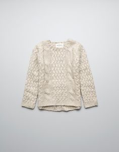 KNIT JUMPER WITH BUTTONS ON BACK - Cardigans and sweaters - Girl (2-14 years) - Kids - ZARA United States