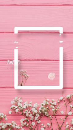 Free Wallpaper Backgrounds, Framed Wallpaper, Flower Background Wallpaper, Flower Backgrounds, Pretty Wallpapers, Pink Wallpaper, Iphone Wallpaper, Fond Design, Instagram Frame Template