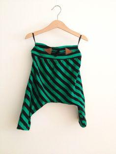 Zöld-fekete csíkos mini hárempantalló / pamut, mábőr, gyerek, nadrág, Baba-mama-gyerek, Ruha, divat, cipő, Gyerekruha, Kisgyerek (1-4 év), Meska Baba, Minion, Tie Dye Skirt, Summer Dresses, Skirts, Fashion, Moda, Summer Sundresses, Minions
