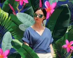 Girl in tropical