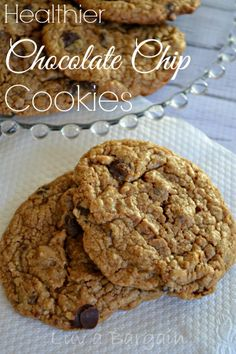 You have to taste it to believe it! Healthy Chocolate Chip Cookies made with almond flour are the best cookie ever! No refined sugar or eggs!