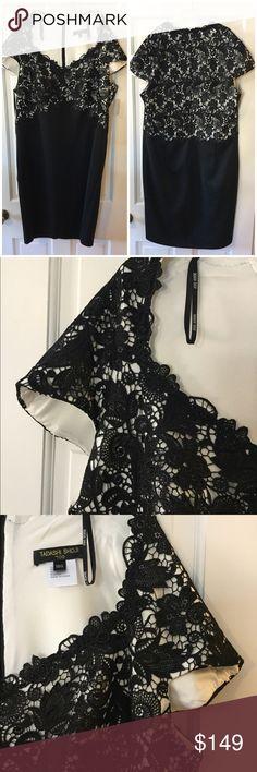 "🆕➕ Tadashi Shoji Too Dress Back zip entry. 91% polyester, 9% spandex with polyester lining. Dry clean.  Underarm across 21"". Length 44"". Brand new with tag. Retail price $395. Smoke free and pet free. Tadashi Shoji Dresses"