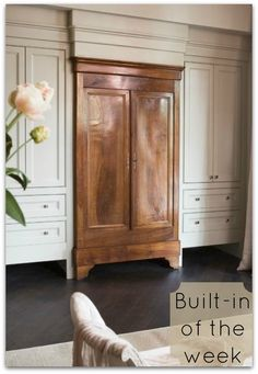 Gorgeous!  Truly an armoire to die for!  Use an existing piece and build in around it. Brilliant.