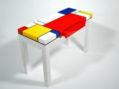 Mondrian© Console Table With Drawer