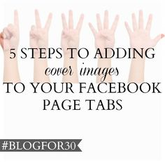 15. of #Blogfor30: 5 steps to adding cover images to your Facebook page tabs Email List, Challenge, Ads, Facebook, Cover, Blog, Image, Blogging, Blankets