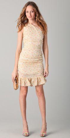 Brose, Marni One Shoulder Dress, and Jean-Michel Cazabat, Orabela Strappy Sandals