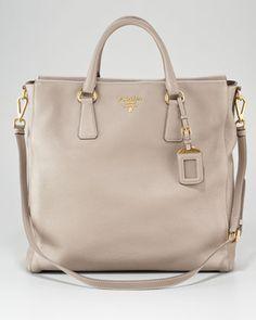 Vitello Daino North South Tote Bag by Prada- Neiman Marcus