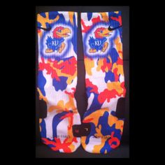 Jayhawks Parody Custom Nike Elite Socks by LuxuryElites on Etsy, $35.99