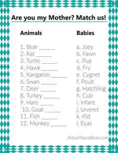 Animal Matching Game