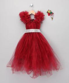 Red Christmas Dress Set - Toddler & Girls