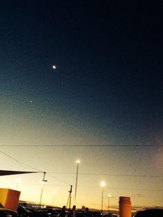 Beautiful night time moon