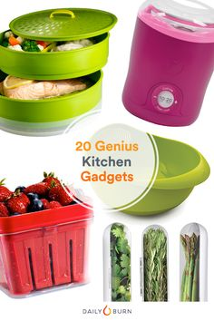 20 Kitchen Gadgets to Make Healthy Eating Easy is part of Healthy cooking Gadgets - Hate cooking but trying to clean up your diet These kitchen gadgets can help you create satisfying homemade meals, without all the fuss Kitchen Tools And Gadgets, Cooking Gadgets, Cooking Tools, Kid Cooking, Kitchen Hacks, Healthy Cooking, Healthy Eating, Healthy Food, Clean Eating