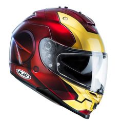 CASQUE HJC IS17 MARVEL IRONMAN rouge/or
