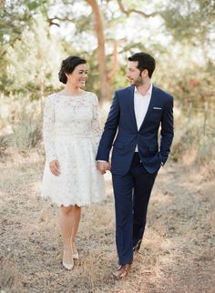 The prettiest lace e-sesh dress: http://www.stylemepretty.com/2016/06/03/timeless-traditional-this-e-sesh-will-have-you-california-dreamin/ | Photography:Jose Villa Photography - http://josevilla.com/