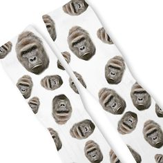 8fae1f86d7bd75 Harambe Gorilla Custom Athletic Fresh Socks. Fresh Elites