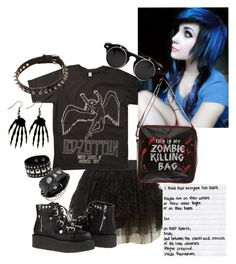 """""""Have you ever wished there would be a zombire apocolypse -Delphine"""" by bipolarbabe ❤ liked on Polyvore"""