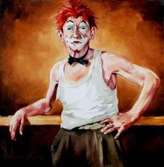"Igor Shulman, ""Old Cloun"" Clown Paintings, Original Paintings, Abstract Paintings, Paintings For Sale, Art Google, Figurative Art, Contemporary Artists, Wood Art, Oil On Canvas"