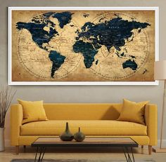 219 Best World Map Decor Images In 2019 World Maps Decorating