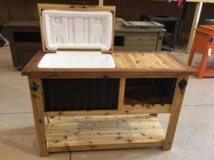Deck Cooler, Wood Cooler, Cooler Stand, Outdoor Cooler, Diy Outdoor Bar, Pallet Cooler, Cooler Box, Pallet Bar, Portable Outdoor Bar