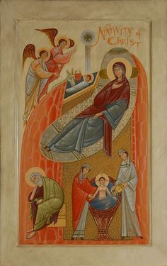 Contemporary icon for Christian church, commission new sacred icon. Icons of Christian feasts, painted by iconographers Philip Davydov and Olga Shalamova. Byzantine Icons, Byzantine Art, Religious Icons, Religious Art, Orthodox Icons, Renaissance Art, Sacred Art, Christian Art, Our Lady