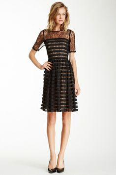 Muse Striped Lace Dress from HauteLook on Catalog Spree, my personal digital mall.