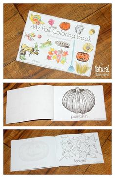 Fall coloring pages for kids.