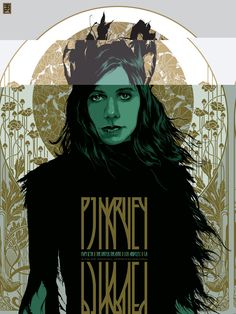 2017 PJ Harvey - Los Angeles Silkscreen Concert Poster by Ken Taylor Omg Posters, Band Posters, Music Posters, Retro Posters, Ken Taylor, Art Nouveau, Illustration, Concert Posters, Rock Art
