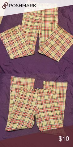Plaid Slacks Amazing Rue 21 plaid slacks!!! Wore to many holiday events with that perfect sweater! Rue 21 Pants Trousers
