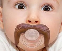 Cowboy Mustache Pacifier - Wonnered